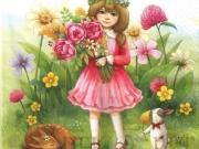 serwetka-dziewczynka-wiosna
