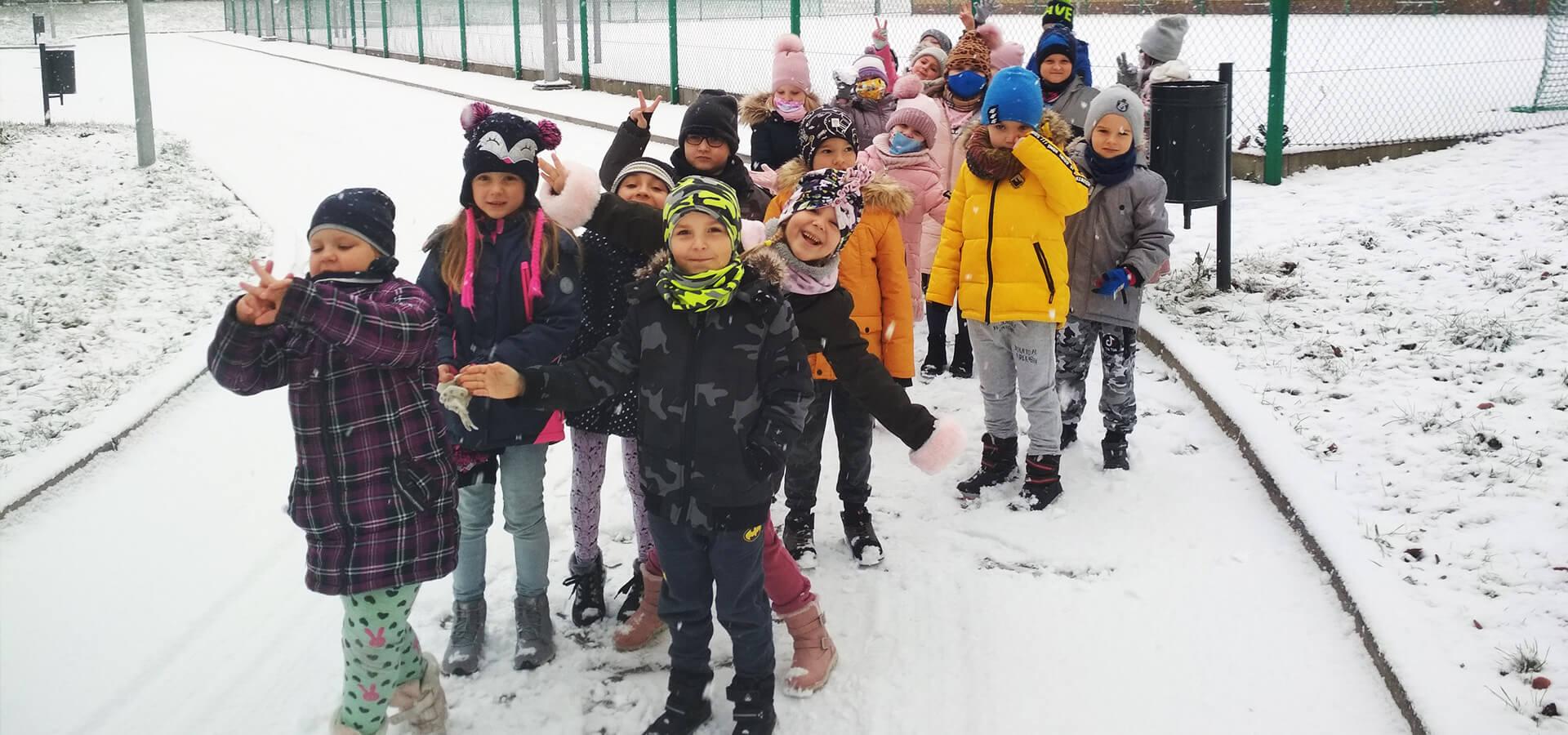 Spacer po pierwszym śniegu